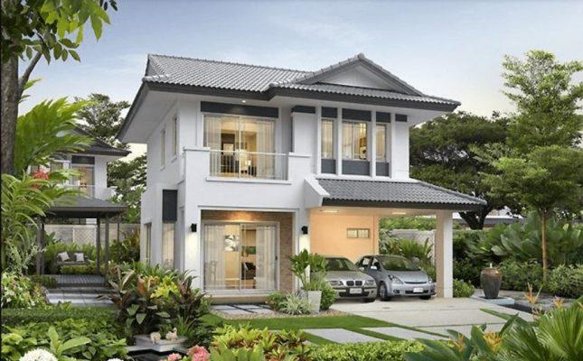 không gian xanh cho căn nhà 2 tầng