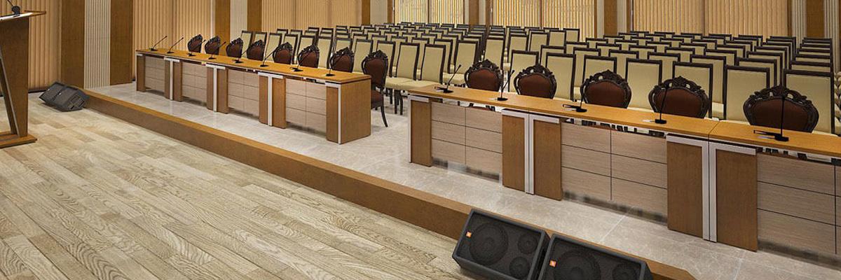Bàn ghế hội trường bằng gỗ công nghiệp giá sỉ tại TPHCM